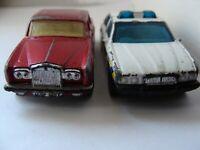 Konvolut Matchbox JAGUAR XJ6 Police Superfast ROLLS-ROYCE Silver Shadow II 1:64