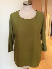 Betty Barclay Top Size 12 BNWT Olive Green 3 4 Sleeves RRP £60 Now 9037aa63b5