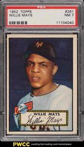 1952 Topps Willie Mays #261 PSA 7 NRMT