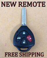 Replacement Keyless Entry Remote Key Fob For Toyota Camry ID67 DST CHIP HYQ12BBY New Uncut Blade