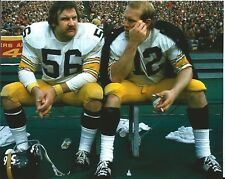 TERRY BRADSHAW RAY MANSFIELD PITTSBURGH STEELERS  COLOR 8X10 1974