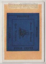 1930s Trade Ad Card - 1856 British Guiana  4 Cents Postage Stamp