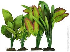 Aqua One A1-24246 Silk Plant 4pk Mix 6 For Freshwater Aquarium & Terrarium