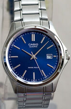 Casio MTP-1183A-2AD Men's Analog Watch Blue Face Steel Band Classic New Date