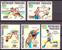 Togo MiNr. 1746-50 postfrisch MNH Olympia 1984 Los Angeles (Oly1145