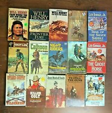 Lot 15 Vintage Western Novel Will Henry Norman Daniels Les Savage Thorne Douglas