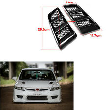2pcs Durable ABS Decorate Air Flow Vents Cover Universal Car Hood Vents RR Type