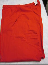 NEW LANE BRYANT WOMENS COTTON/POLY 2 POCKET ELASTIC WAIST PANTS- RED- 4X