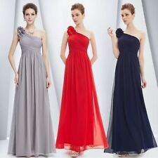 AU Ladies Special Occasion Formal Bridesmaid Evening Gown Dress Solid Color