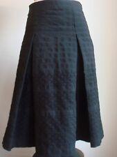 "Zara pleated A-line black ""toast style"" wool skirt lined textured"