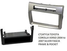 Toyota Corolla Verso 2004 to 2007 Silver Single or Double Din Fascia Panel