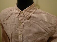 American Eagle Extreme Slim Fit Burgundy Striped Sz S Button Front 100% Cotton