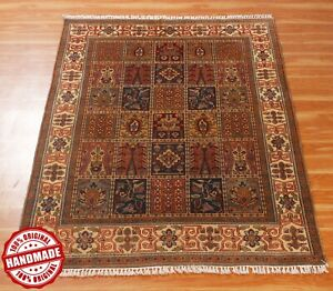 4x6 Handmade Kazakh Hand Knotted Wool Area Rug 'Kshinam' Patch Style Carpet NEW