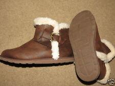GREAT Makalu Yani brown w/ fake fur lining boots - girls / womens 6 1/2 (6.5)