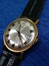 1973 Timex Original  Viscount Series Mechanic Watch - Poker Chip Dial Serviced