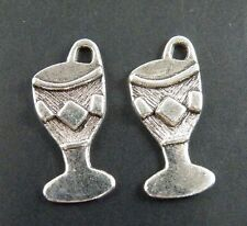 200pcs Tibetan Silver Goblet Wine Glass Pendant Charms Findings 21x9x1.5mm 1993