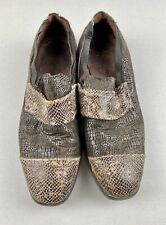 Rudy Ray Moore Dolemite Personal Vintage 80s Mens Loafer Shoes Sz 12 Snake Brown