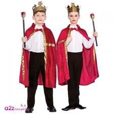 Red King Queen Robe & Crown Boys Girls Nativity Christmas Regal Prince Princess 5 - 7 Years Egb-4105
