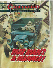 THAT MAN'S A MENACE,COMMANDO WAR STORIES IN PICTURES,NO.1296,WAR COMIC,1979