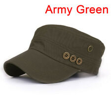 RUassic Plain Hat Vintage   Military Cadet Style Cotton Cap Adjustable Uni@V
