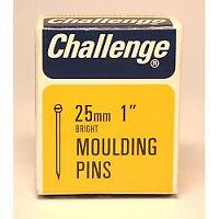 Challenge Moulding Pins (Veneer Pins) - Bright Steel (Box Pack) 25mm