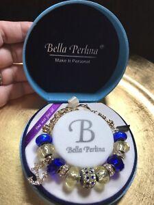 Bella Perlina Charm Bracelet Purple Amethyst Color Orig  $125 One Size Fits All