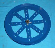 No118 bleue meccano flasque circulaire à rebord