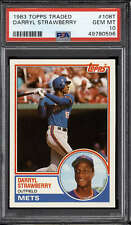 1983 Topps Traded #108T Darryl Strawberry PSA 10 Gem Mint RC Rookie M ID: 286388