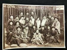c 1910 Antique JAPANESE PHOTOGRAPH All Girls School EDUCATION Japan PHOTO Winter