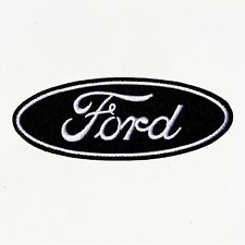 Ford logo black racing car embroidered iron on patch badge motor sports