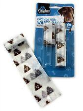 60 EMOJI DOG POO BAGS Pet Pooper Scooper Dog Cat Waste Toilet Poop Tie no handle