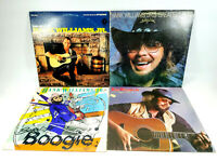 Lot of 4 Hank Williams, Jr. LPs, Best of, Greatest Hits, Major Moves, Born To Bo