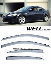 For 04-08 Acura TL WellVisors Smoke Side Window Visors Deflectors Rain Guard