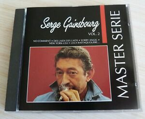 CD ALBUM BEST OF MASTER SERIE VOL.2 SERGE GAINSBOURG 16 TITRES 1991 COMPILATION