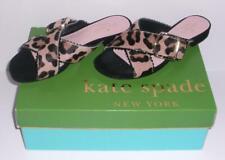 NIB Kate Spade Faris Too Leopard Print Calf Hair Sandals Size 6.5