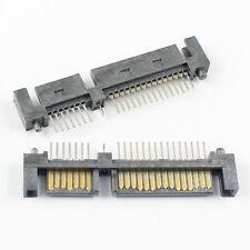 5Pcs Sata 7+15 Pin 22 Pin Straight Male Adapter Connector For Hard Drive HDD