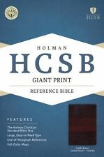 HCSB Giant Print Reference Bible; 2015; Saddle Brown LeatherTouch Indexed