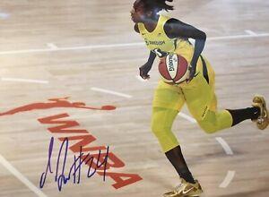 JEWELL LOYD Signed 8x10 Photo WNBA Basketball SEATTLE STORM Champions Auto