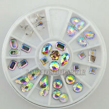6 Shapes Diamond Facets Crystal Nail Art Rhinstones Phone Decorations Wheel