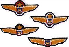 Set of 4 - B5 Babylon 5 Pilot Wings Patches [Captain, Lt Cmdr, Officers, Pilots]