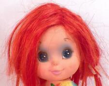 Kamar Doll 1968 Plastic Big Eyes Red Hair Holds Bouquet Pre Blythe Vintage Sits