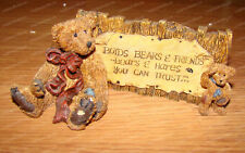 Boyds Bears, Grenville & Neville.The Sign (Bearstone Collection, 20997) 1993
