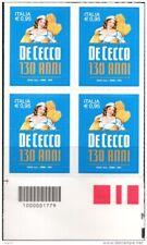 Italia 2016 - Pasta De Cecco - Quartina con codice barre