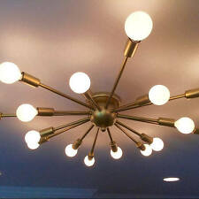 Atomic 16 Arm Flush Mount Ceiling Light Sputnik Mid Century Starburst
