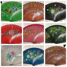 Set of 12 high quality Spanish wood fan/wedding deco/gift for her/dancing fan