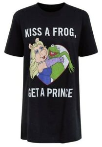 Muppets - Kiss A Frog Get A Prince - Ladies distressed aged effect t shirts