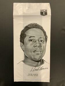 1976 Safelon Plastic Lunch Bag MLB Milwaukee Brewers Hank Aaron / Reds Pete Rose