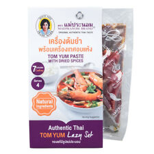 Maepranom Tom Yum Soup Tom Yam Paste & Dried Spices Authentic Thai Recipe Set