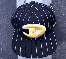 DGK Skateboard Co. Mens Black Lined Logo Snapback Hat HTDGK-15
