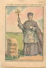 Caricature Politique Fulda Kristallnacht Cross of Christ Bishops Germany 1938